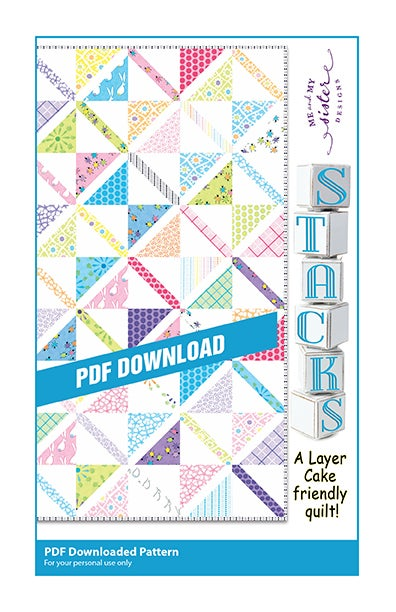 Image of Stacks! PDF pattern