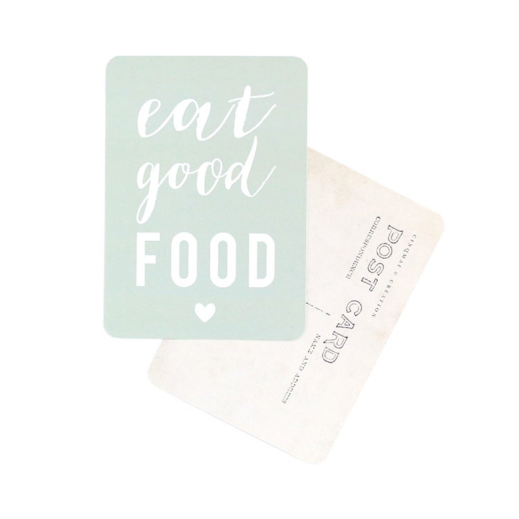 Image of Carte Postale EAT GOOD FOOD