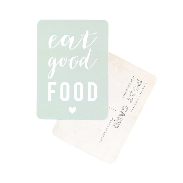 Image of Carte Postale EAT GOOD FOOD / SMOKE GREEN