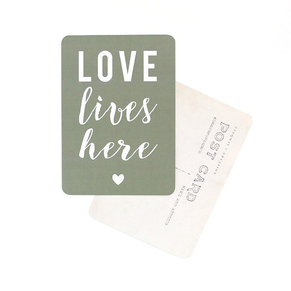 Image of Carte Potsale LOVE LIVES HERE
