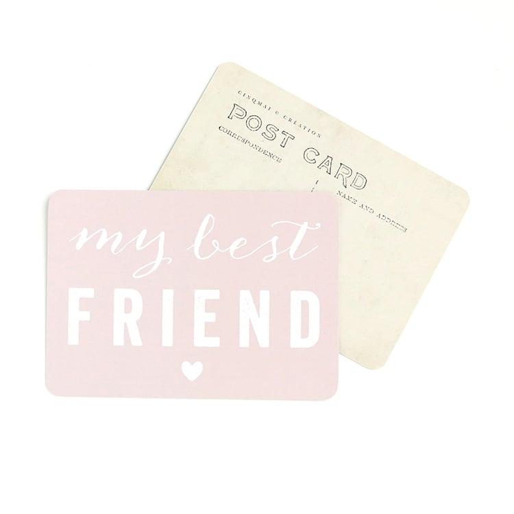 Image of Carte Postale MY BEST FRIEND