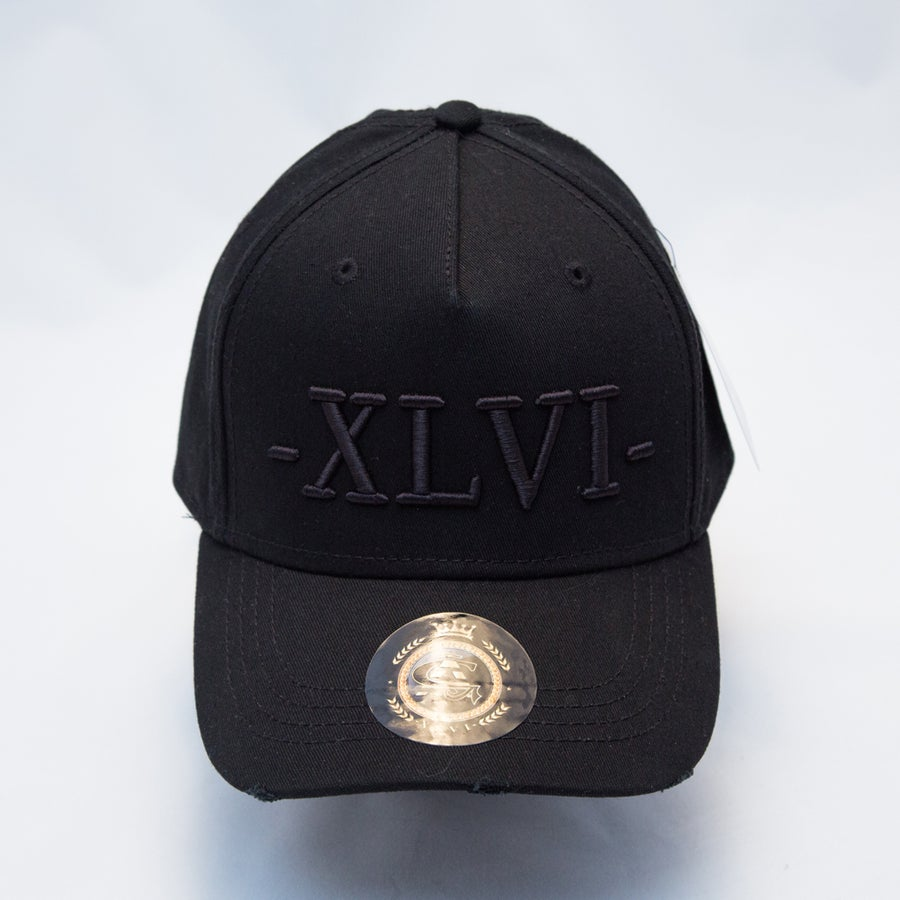 Image of All Black Distressed Cap