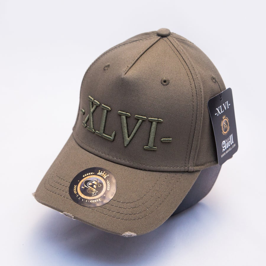 Image of All Olive Distressed Cap