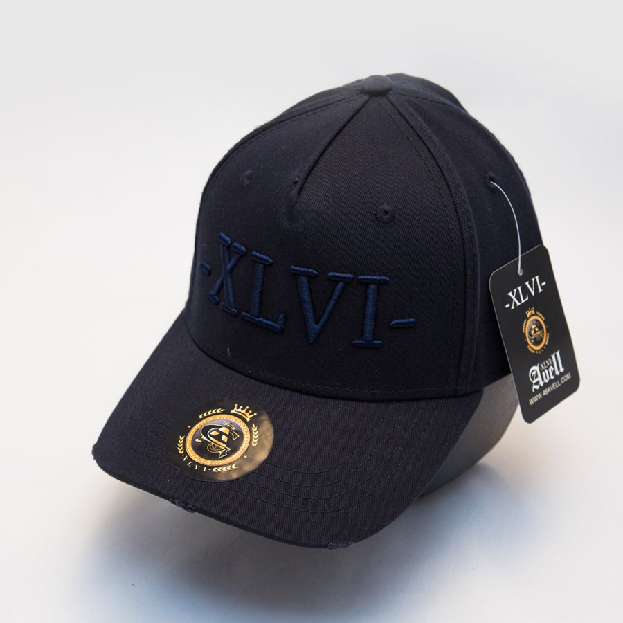 Image of All Navy Blue Distressed Cap