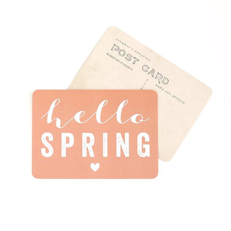 Image of Carte Postale HELLO SPRING