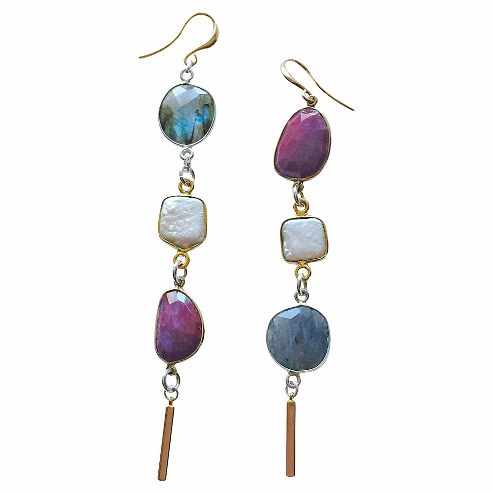 Image of FLIRT WITH SPARKLE MISMATCHED EARRINGS
