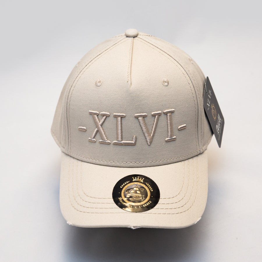 Image of All Beige Distressed Cap