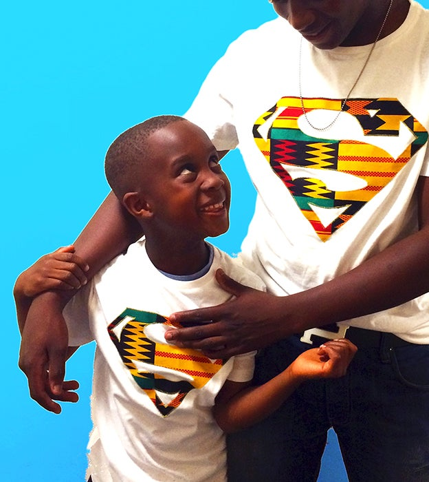 Image of Lil' Z Afro Superman T-shirt