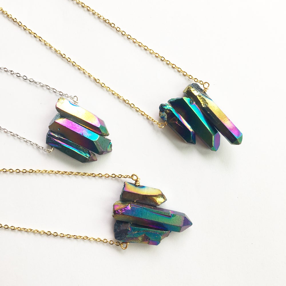 Image of Peacock Trio Necklace