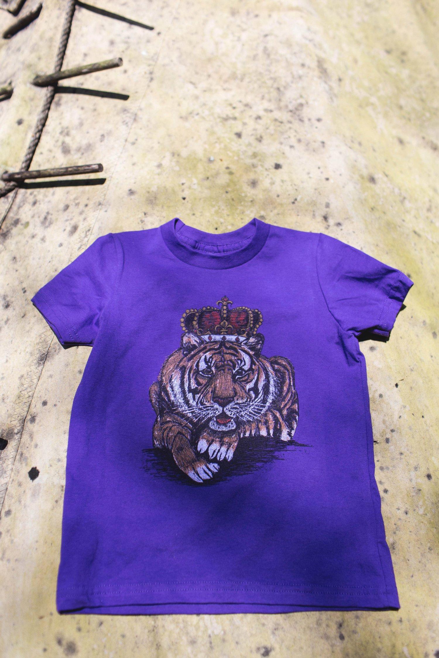 Image of Youth Louisiana King Cat Short Sleeve Tee