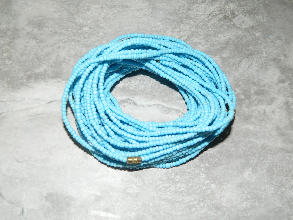 Image of Sky blue waist bead