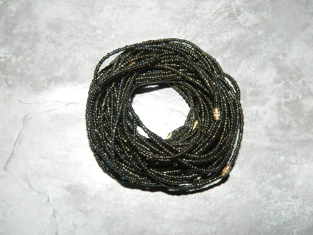 Image of Bronze metallic waist bead