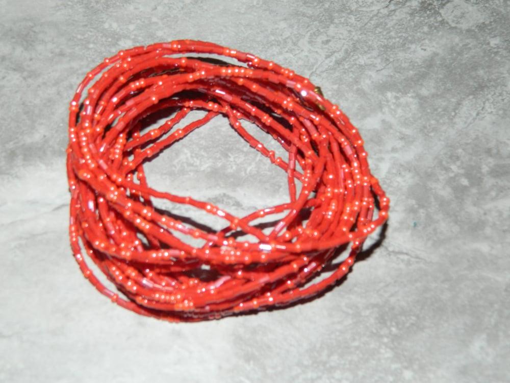 Image of Red jewel waist bead