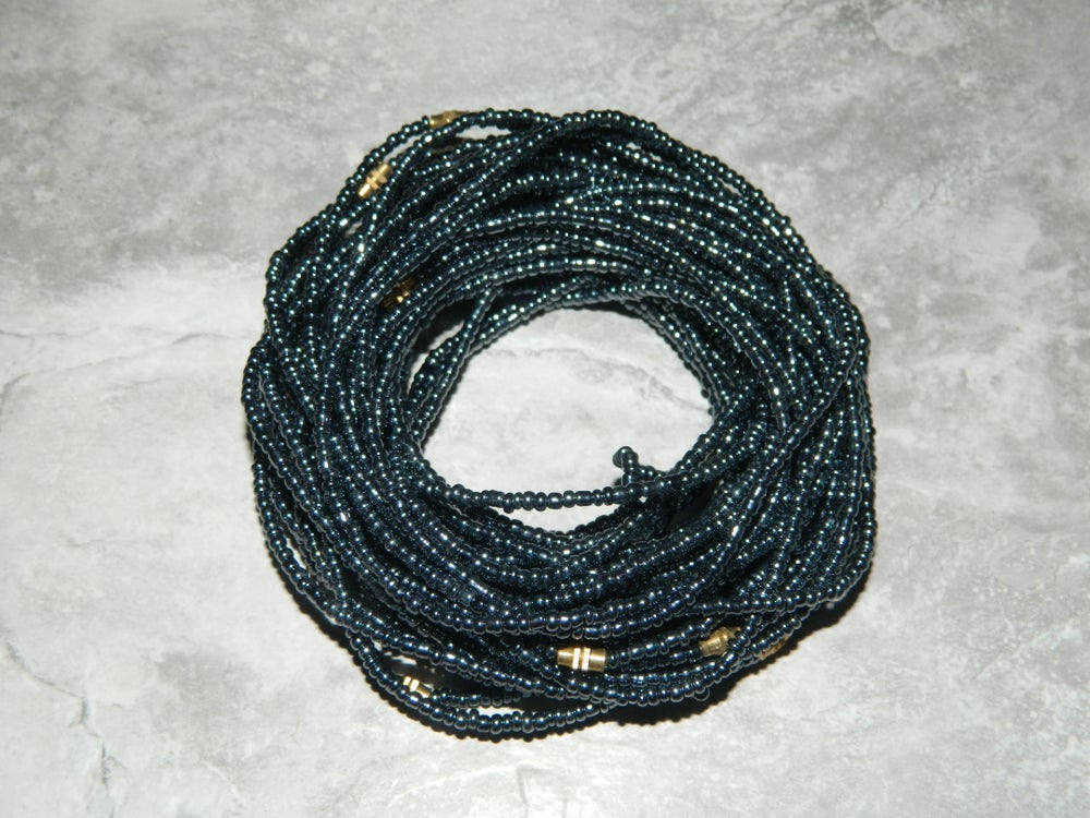 Image of Chrome gray waist bead