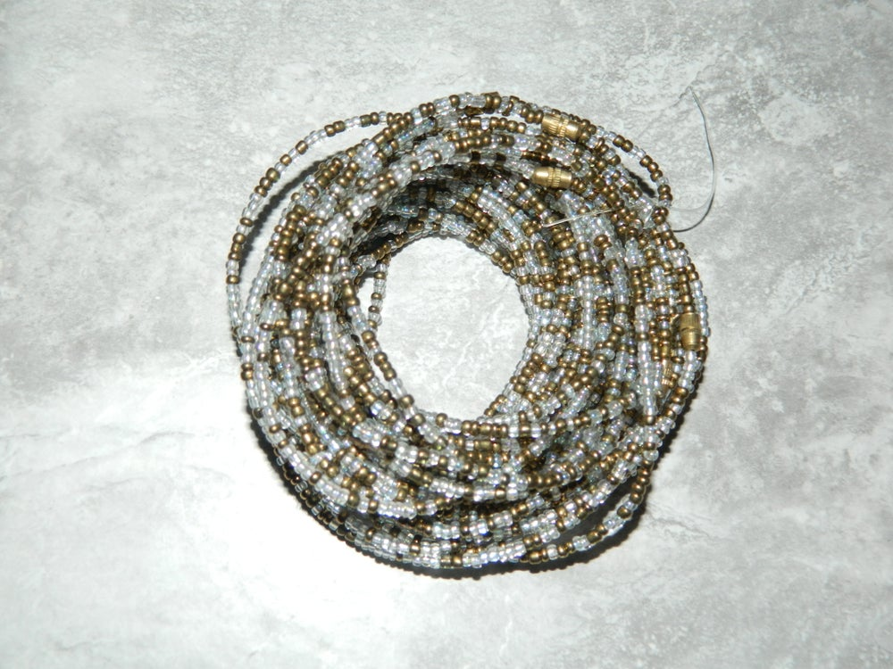 Image of Gold and clear waist bead