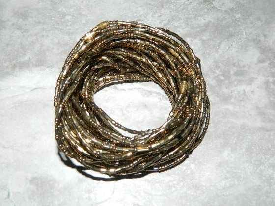 Image of Gold Jewel waist bead