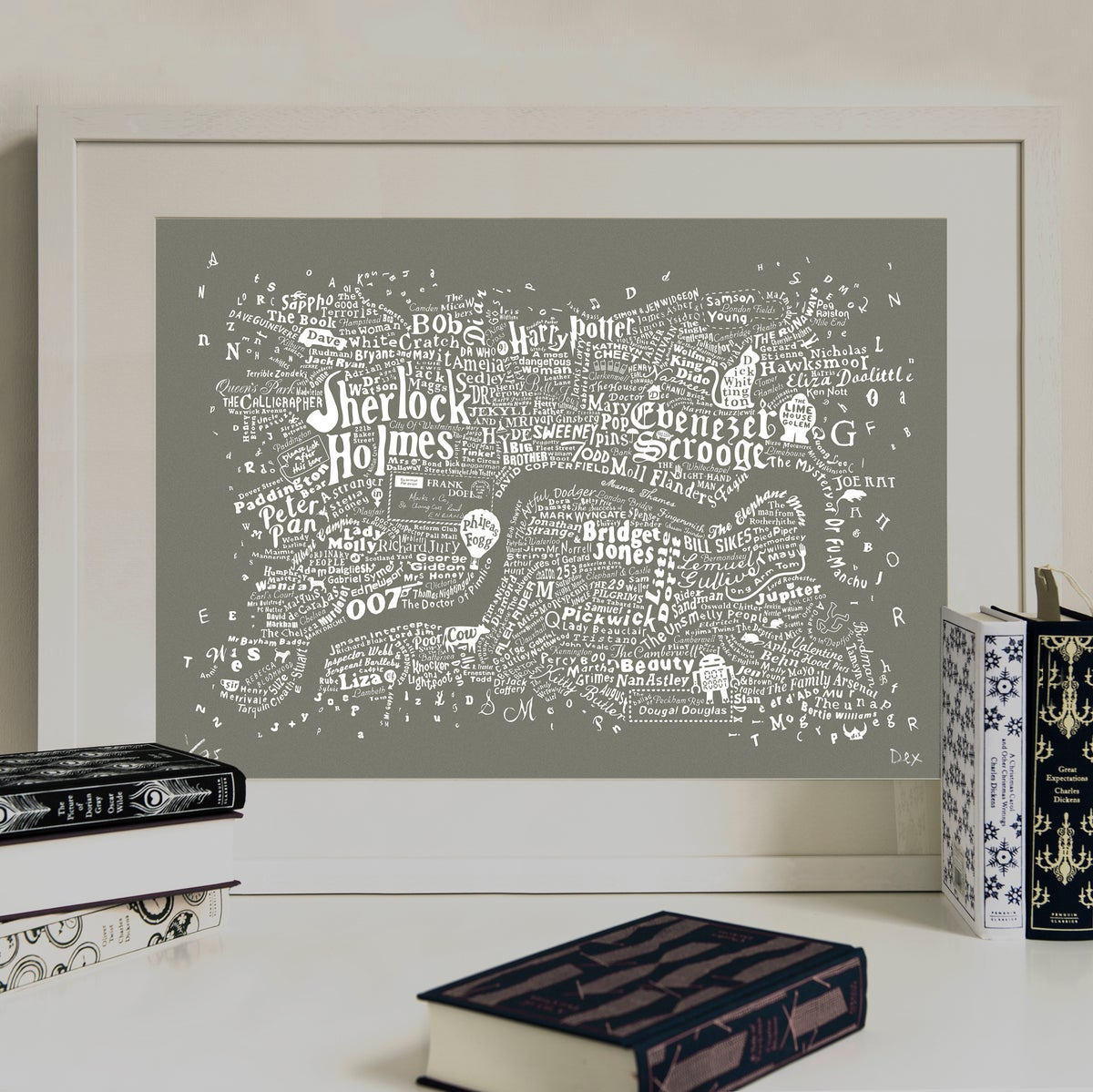 Image of Literary Central London Map (grey screenprint)