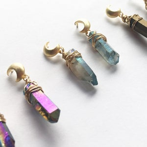 Image of Luna Earrings - with Quartz crystal