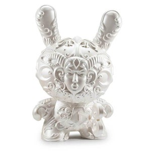 """Image of 20"""" Pearl White Its a F.A.D Dunny signed by J*RYU"""