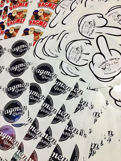 Image of Vagmen logo Stickers