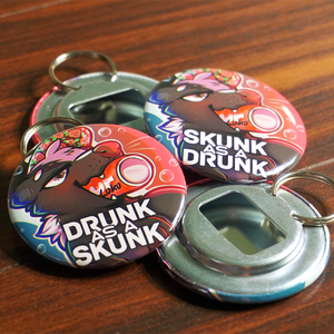 Image of 'Drunk as a Skunk' Bottle Opener