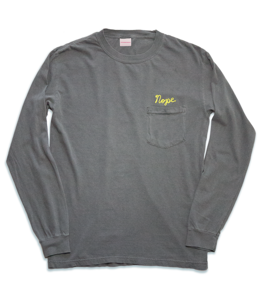 Image of Nope Long Sleeve T, Grey