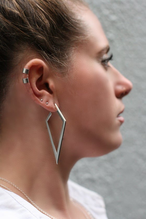 Image of Insignia Large Facet Hoops