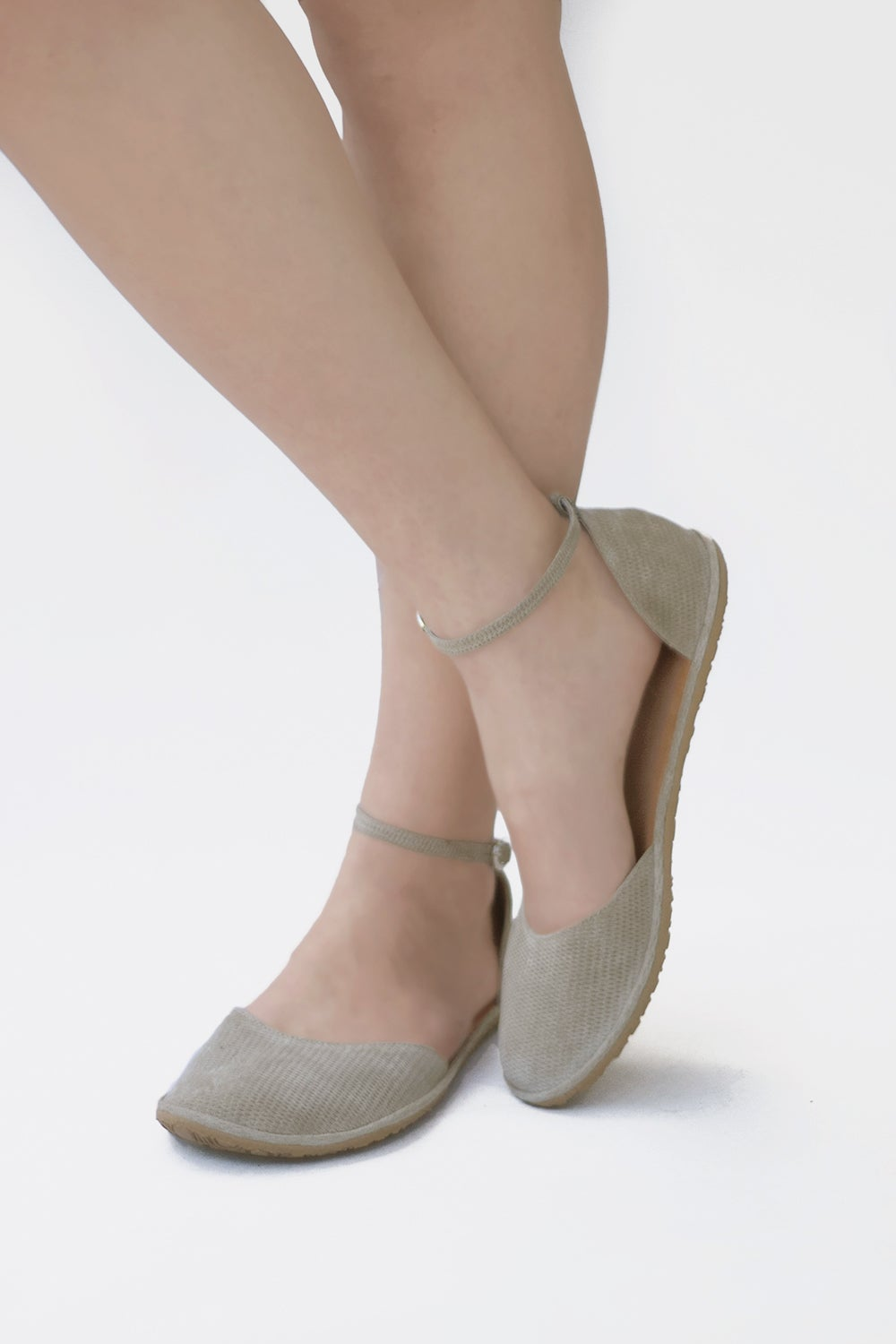 Image of Ellie Dress sandals in Grey suede