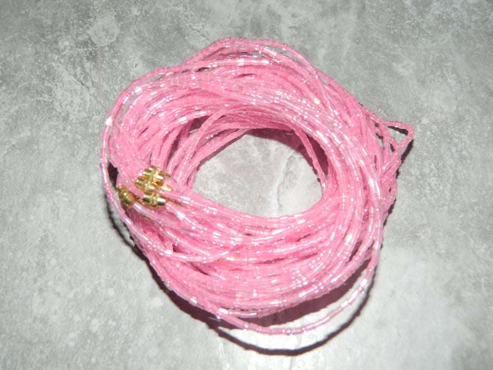 Image of Pink glass waist bead