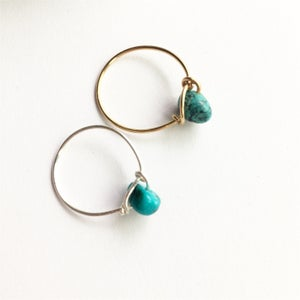 Image of Simple Turquoise Stone Ring - for friendship