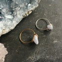 Simple Blue Lace Agate Stone Ring - for calm