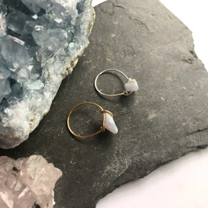 Image of Simple Blue Lace Agate Stone Ring - for calm
