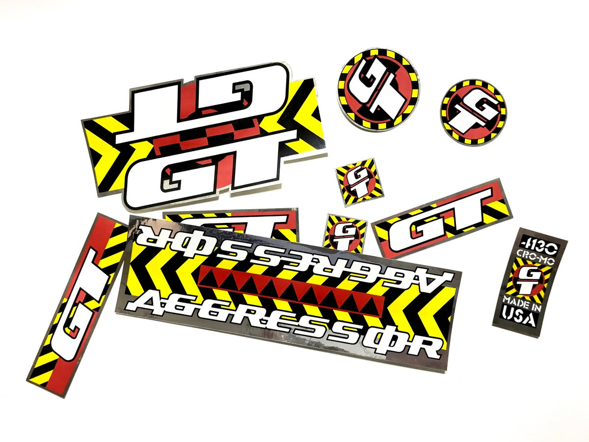 Image of 1990 AGGRESSOR DECAL SET