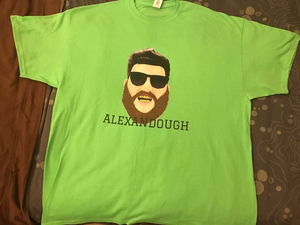 Image of Alexandough Gilden Turnt Neon T Shirt