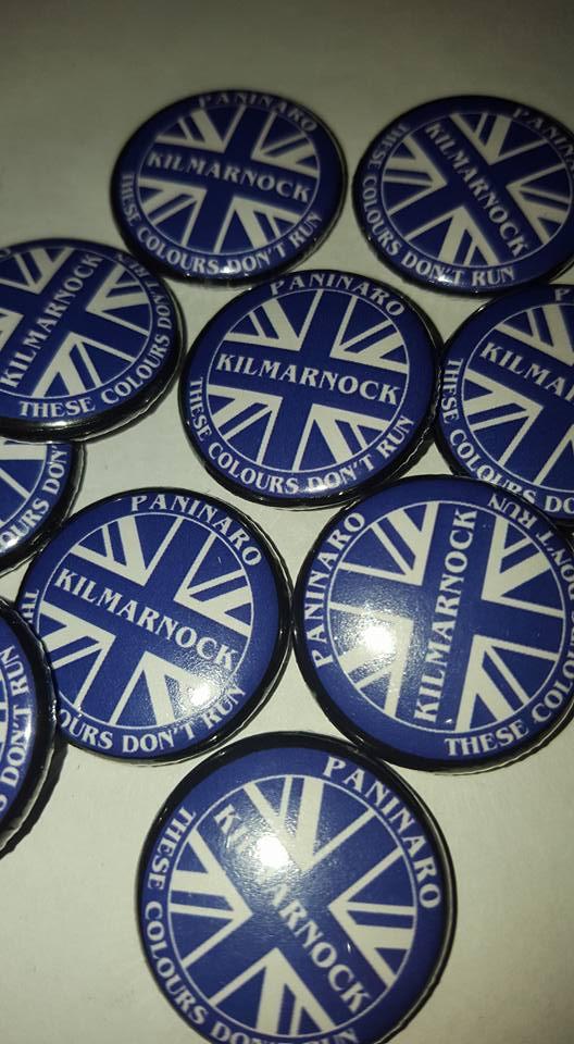 Image of Kilmarnock Paninaro Brand New 25mm Football Ultras/Casuals Badges.