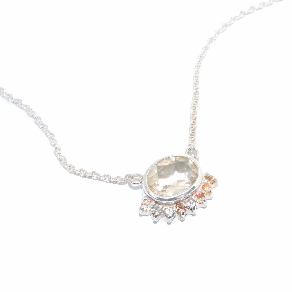 Image of oval cluster necklace
