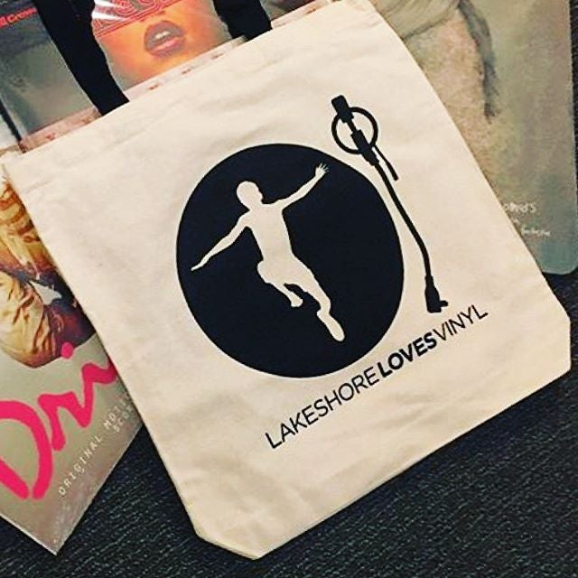 Image of Lakeshore Records 'Lakeshore Loves Vinyl' Tote Bag