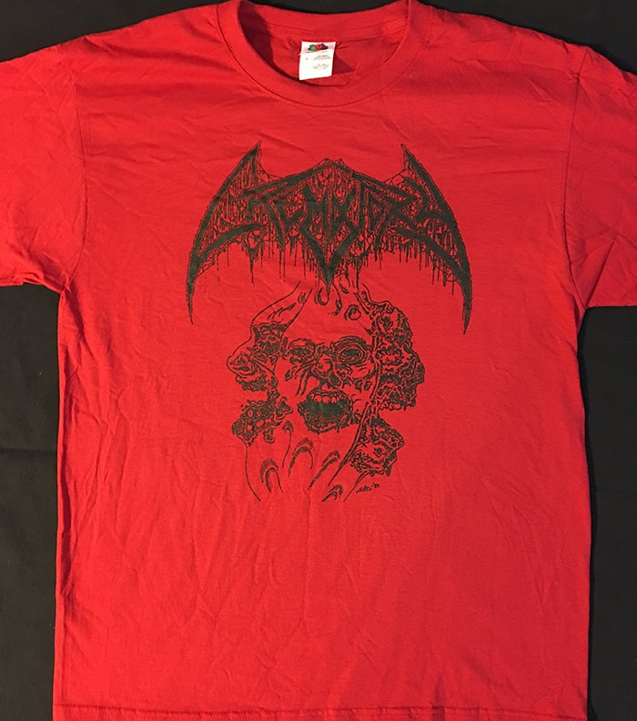 "Image of Crematory "" Three Faces "" T shirt Red"