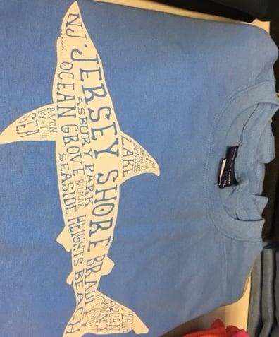 Image of NJ Shark T-shirt -- Restore Jersey Shore Fundraiser
