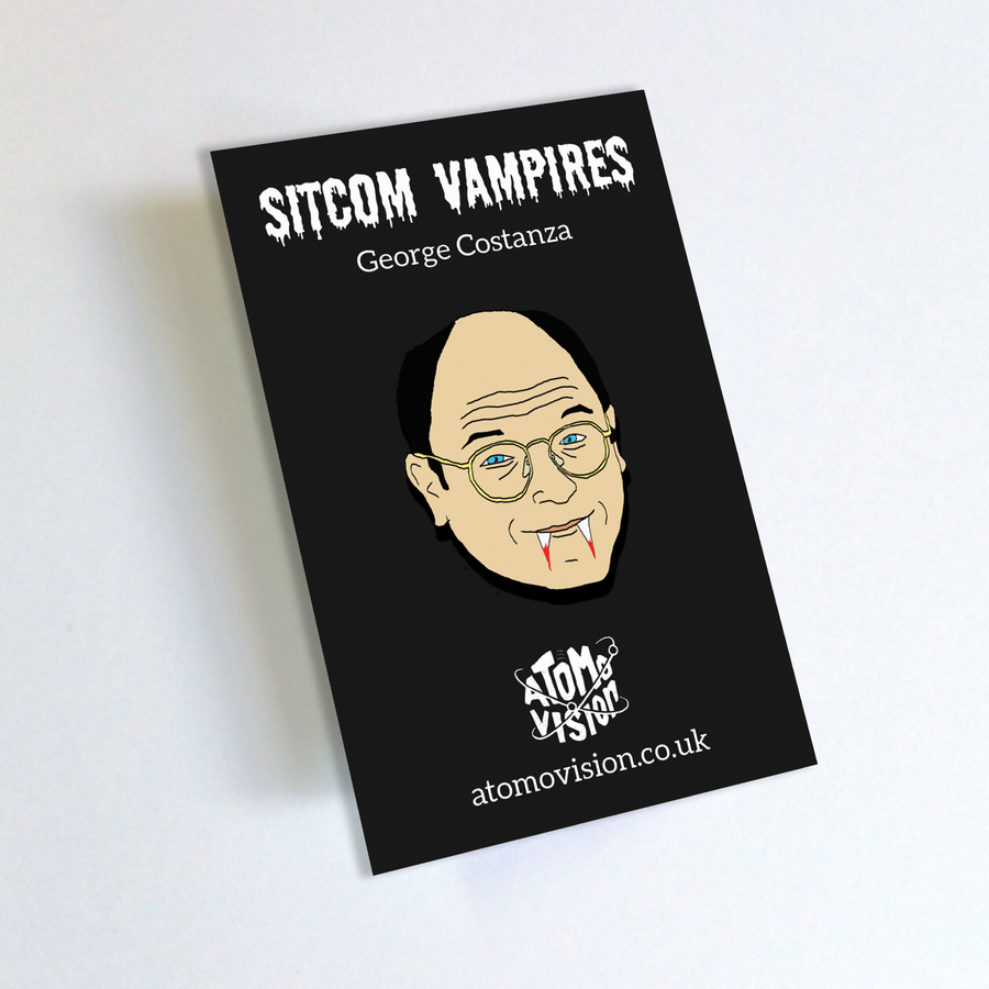 Image of Sitcom Vampires Pin Badge - George Costanza