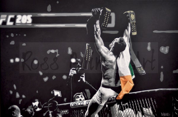 Image of 'DOUBLE CHAMP' (3x2ft canvas print)