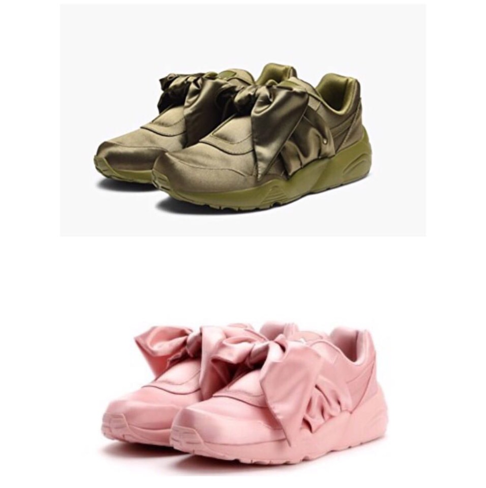 reputable site 87b51 2250d Fenty Slides and Fenty Bow Sneakers