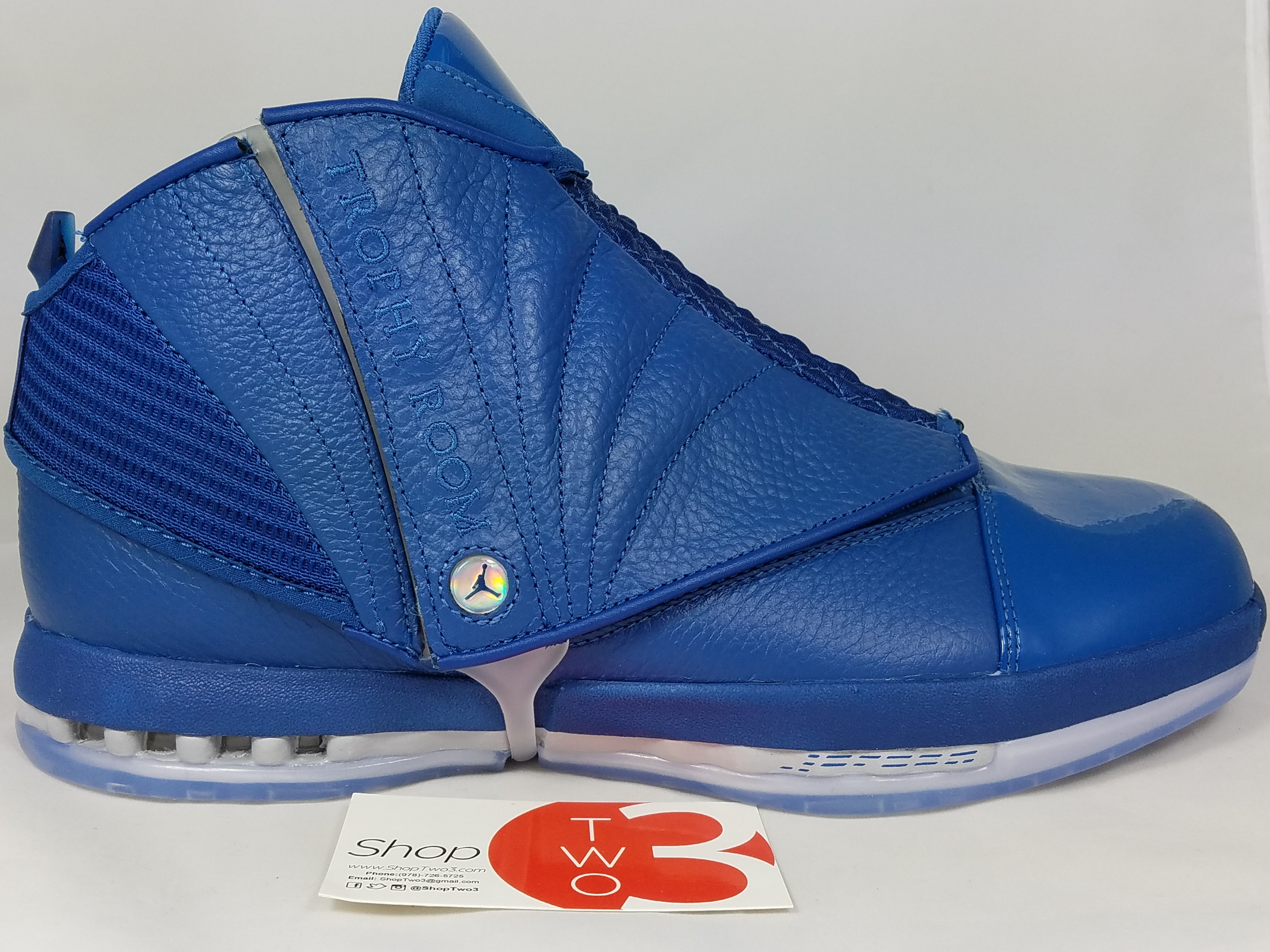 finest selection 9ac27 e8213 ... coupon for air jordan 16 retro trophy room french blue. image of air  jordan 16