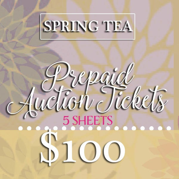 Image of SPRING TEA • Prepaid Auction Tickets