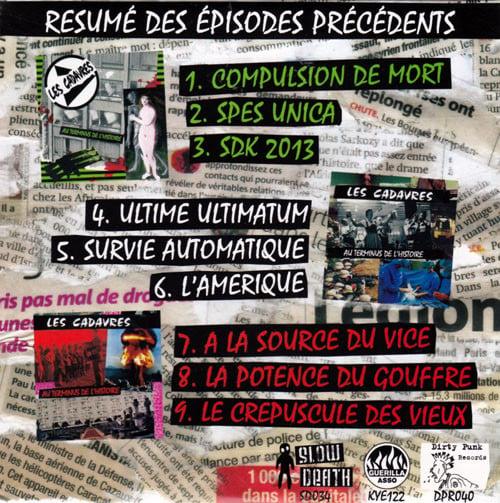 """LES CADAVRES """"Au Terminus de l'Histoire"""" CD"""