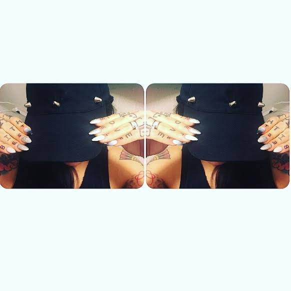 Image of Blackout Spiked Hat