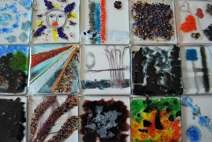 Image of Make a Pair of Beautiful Glass Coasters - Summer School (2 hours) - Glassmaking - Age 8+