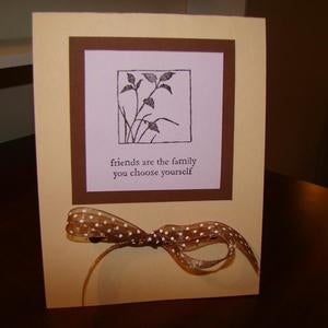 A Is For Beautiful Friends Are Family Card