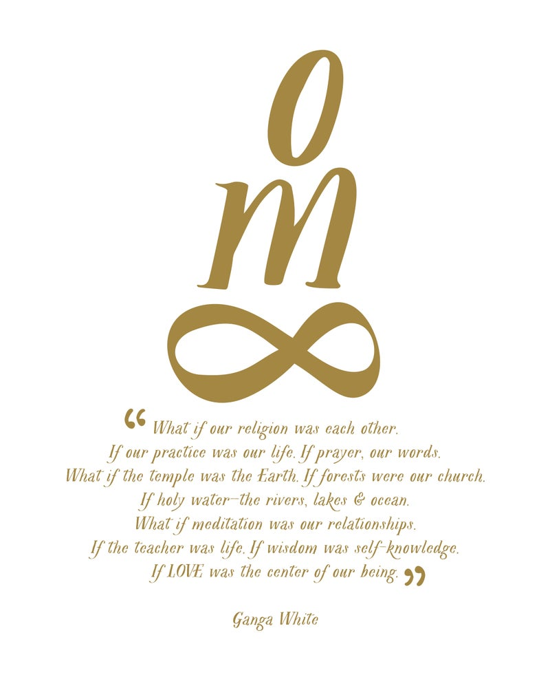 Image of OM - Infinity Print
