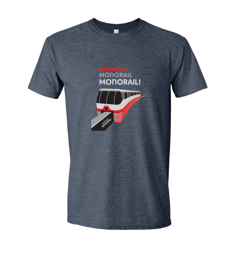 Image of Monorail! Adult Shirt